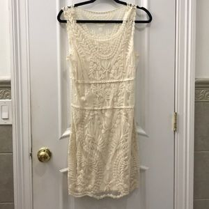 Lacy ivory  dress from Express size M